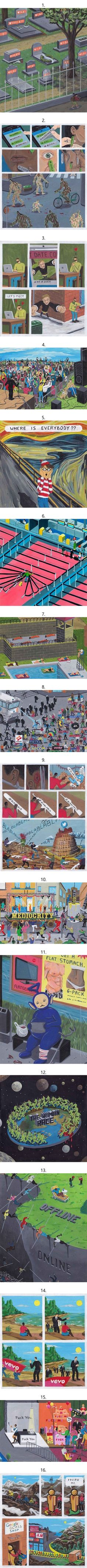 16 Powerful Images That Sum Up How Social Media Is Ruining Our Lives (By Brecht Vandenbroucke)