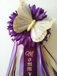 Butterfly Baby Shower Corsage by littlecreationz on Etsy, $29.00