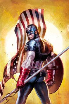 Captain America by Gabriele Dell'Otto