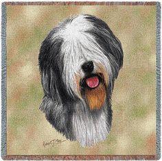 Old English Sheepdog Portrait Throw