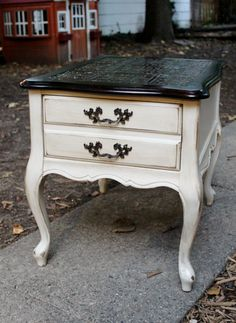 french provincial nightstand $115