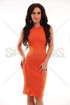 Ana Radu Prissy Orange Dress