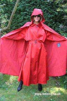 Raincoats For Women Beautiful Refferal: 6932677704 Red Raincoat, Hooded Raincoat, Girls Wear, Women Wear, Rain Cape, Rubber Raincoats, Hooded Cloak, Raincoats For Women, Rain Wear
