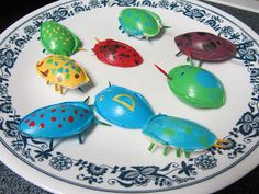 Egyptian Party : Activity Idea : Scarab Beetles made from plastic spoon tops! Kids can paint and take home : Mashed Potatoes and Crafts: Spoon Bugs for Kids
