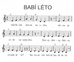 Babí léto písnička Fall Crafts, Crafts For Kids, School Songs, Music Notes, Coloring Pages, Fairy Tales, Sheet Music, Poems, Teaching