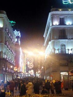 Calle Preciados desde Puerta del Sol. Diciembre 2014
