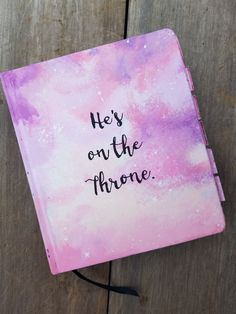 Hand-painted ESV Journaling bible using acrylics