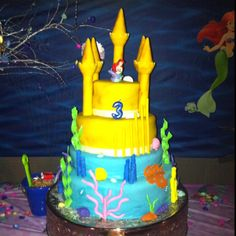My sister's cake for Karelle's 3rd Bday Little Mermaid Party