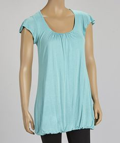 Love this Sea Foam Cross-Back Bubble Tunic on #zulily! #zulilyfinds
