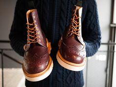 havenshop:    Mark McNairy for HAVEN Oxblood Country Brogue Boot