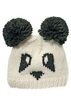 Knitted Panda Face Hat #NextWinterWarmers