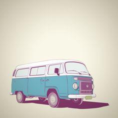 VW Combi v.02 Framed Art Print by CranioDsgn | Society6