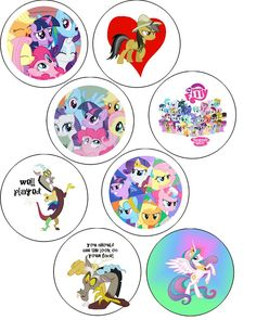 My Little Pony Button Badges!  32 Freebies!