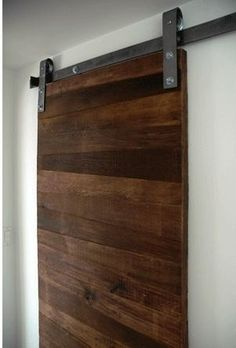 This barn door kit includes everything you need (besides the tools) to install a sliding barn door system. Sliding barn door hardware includes Hardware works with doors of to thickness. Interior Sliding Barn Doors, Sliding Doors, Sliding Panels, Casa Loft, Interior And Exterior, Interior Design, Interior Modern, Kitchen Interior, Kitchen Design