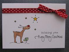 Reindeer and Star by germanstampler - Cards and Paper Crafts at Splitcoaststampers