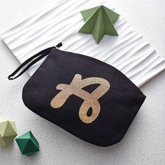 glitter initial clutch by alphabet bags | notonthehighstreet.com