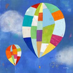Hot Air Balloon Ride Canvas Art Print by twoems on Etsy https://www.etsy.com/listing/218573493/hot-air-balloon-ride-canvas-art-print