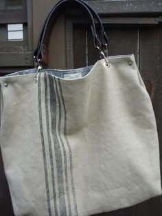 Linen tote - would like to try to make something like this