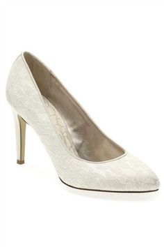 Buy Ivory Lace Point Court Shoes from the Next UK online shop