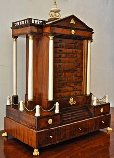 Period Early 19th Century English Neoclassical Collector's Cabinet   From a unique collection of antique and modern cabinets at https://www.1stdibs.com/furniture/storage-case-pieces/cabinets/