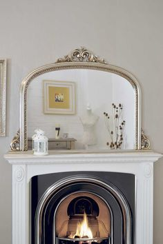 4Ft2 X 3Ft 120cm X 90cm Large Silver Antique Design Over Mantle Big Wall Mirror