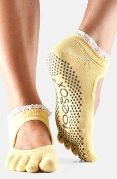 My favorite grippy yoga socks