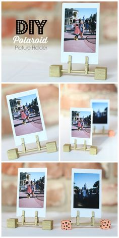 Cute and easy way to display Polaroids! Love it! Instax Mini/ Polaroids