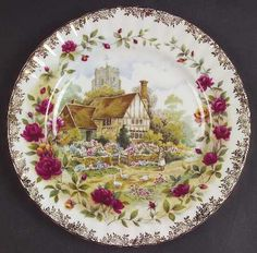 Old Country Roses Cottage by ROYAL ALBERT CHINA