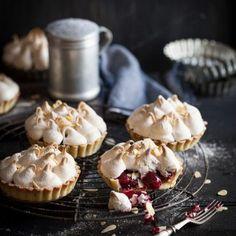 Cherry meringue tartlets recipe #baking #fruit #recipe