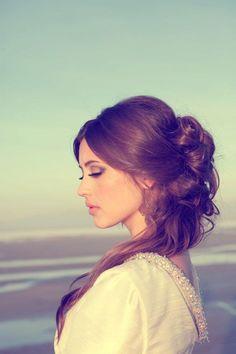 #Bridal Hairstyle, #Wedding Hairstyle #Pretty Hair #Beautiful