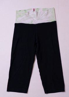 With a green tie dye waistband these  Hard Tail brand pilates pants are the pair you want to wear to the gym or down to the beach!
