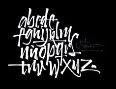 Brush Alphabet. — Calligraphy by José Joaquín Domínguez.
