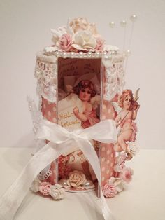 Toilet Paper Roll 3D Card using Sweet Sentiments - A Ladies Diary and woc Beautiful Flowers by Anne Rostad