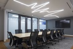 Dräger Canadian office, Lübeck Board Room. Heartbeat #lighting fixture designed in partnership with Selux.