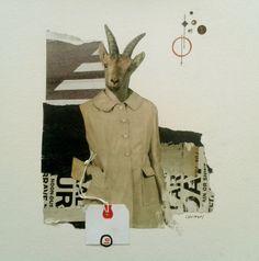 """ya no sé que hacer conmigo"" / handmade collage / carolina chocron"
