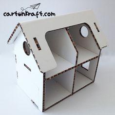 Para niños : Casa de muñecas de cartón para pintar