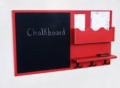 Message Center Mail Organizer Chalkboard Key by LegacyStudio