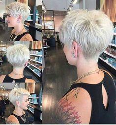 Freche kurzhaarfrisuren damen 2017 - hair styles for short hair Short Haircuts 2017, Haircuts For Fine Hair, Short Pixie Haircuts, Edgy Haircuts, Women Pixie Haircut, Layered Haircuts, A Line Haircut Short, Pixie Haircut Styles, Curly Haircuts