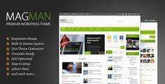 MagMan - Responsive News/Blog WP theme - ThemeForest Item for Sale