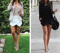 New fashion, saias assimétricas