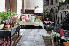 Zonnig en gezellig balkon | Inrichting-huis.com