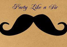Uitnodigingen - Party Like a Sir snor eindbaas