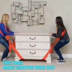 Furniture moving made easy Moving Furniture, Diy Furniture, Furniture Design, Moving Supplies, Moving Tips, Moving Hacks, Construction Tools, Home Gadgets, Cool Inventions