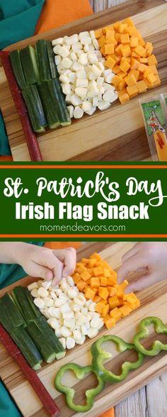 St. Patrick's Day Irish Flag Snack Idea. Sponsored by Frigo.