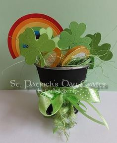 St. Patrick's Day Craft - Pot of Gold, Shamrocks and Rainbow 2