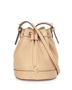 Sierra Faux-Leather Bucket Crossbody Bag, Buff by Neiman Marcus at Neiman Marcus Last Call.