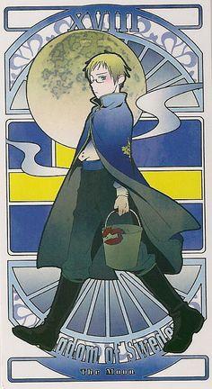 sweden tarot card the moon Nordics Hetalia, Hetalia Fanart, Overwatch, Hetalia Characters, Mundo Comic, Hetalia Axis Powers, All Anime, Tarot Cards, Beautiful World