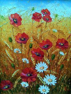 Цветы в пшенице. Художник: Алексеенко Лариса