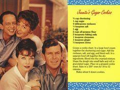 Mayberry Juanita's Ginger Cookies Recipe Postcard