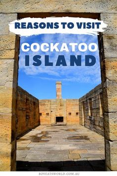 Are you looking for a unique destination? Discover why you should visit Cockatoo Island in Australia! I things to do in Australia I where to go in Australia I places to go in Australia I places to visit in Australia I Australia travel I what to do in Australia I Australia destinations I destinations in Australia I Island travel I travel in Australia I off the beaten path Australia I #Australia #CockatooIsland